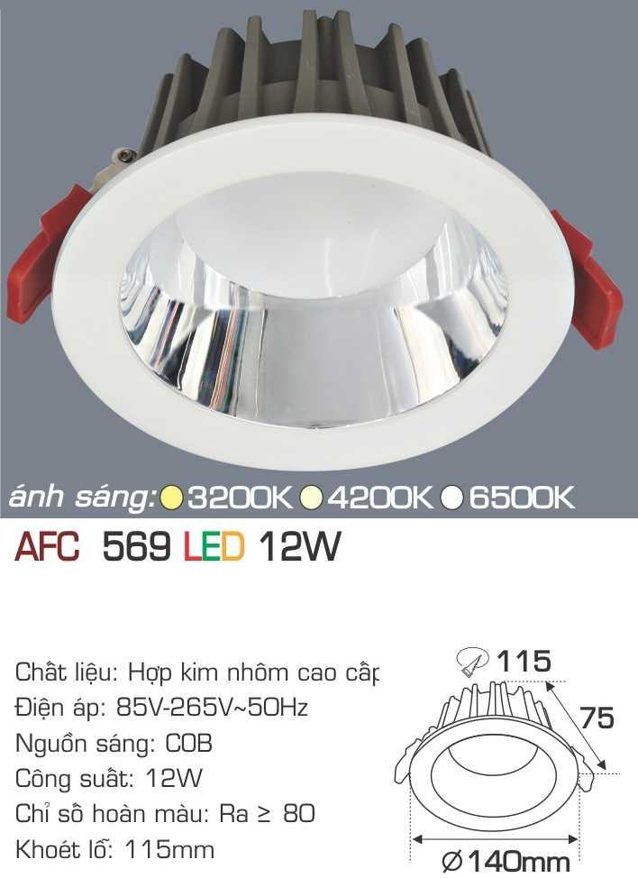 ĐÈN AFC 569 LED 12W