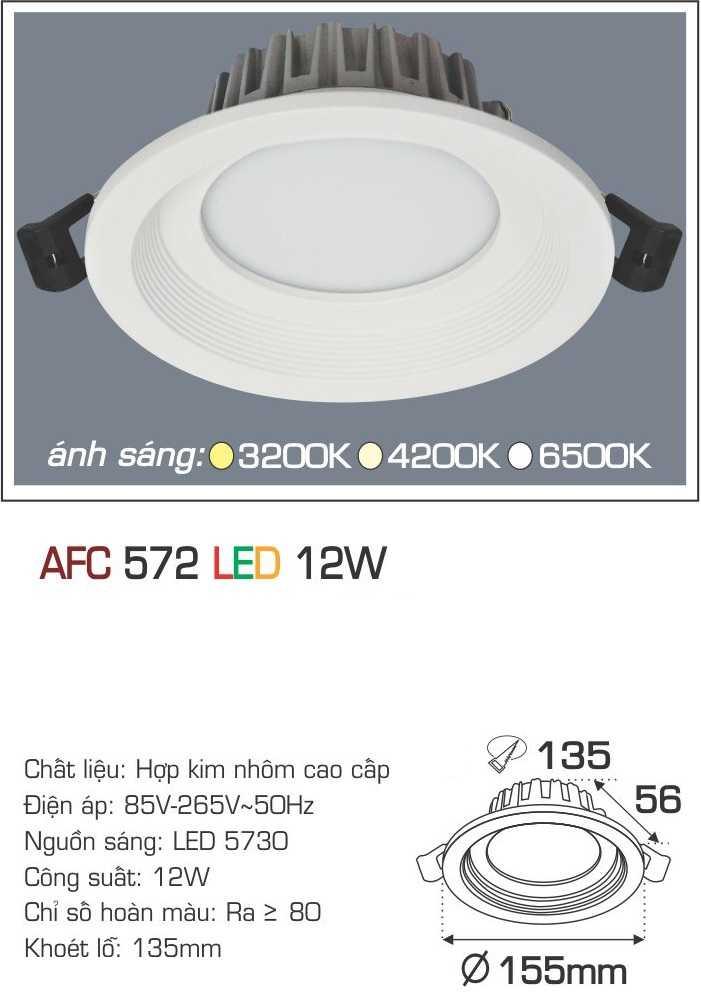 ĐÈN AFC 572 LED 12W 1 CHẾ ĐỘ