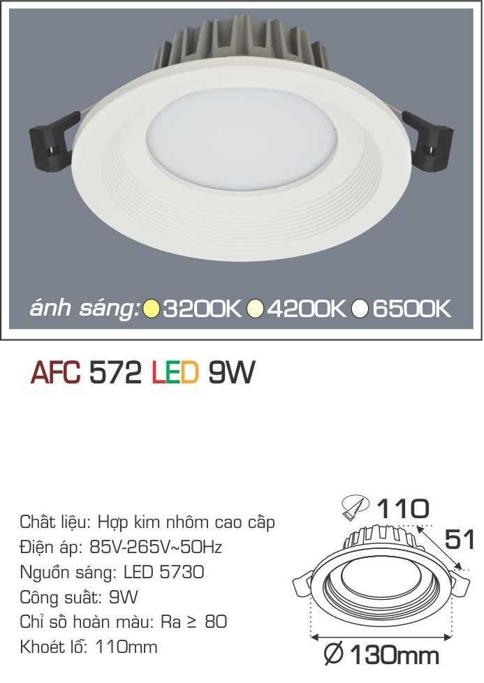 ĐÈN AFC 572 LED 9W 1 CHẾ ĐỘ
