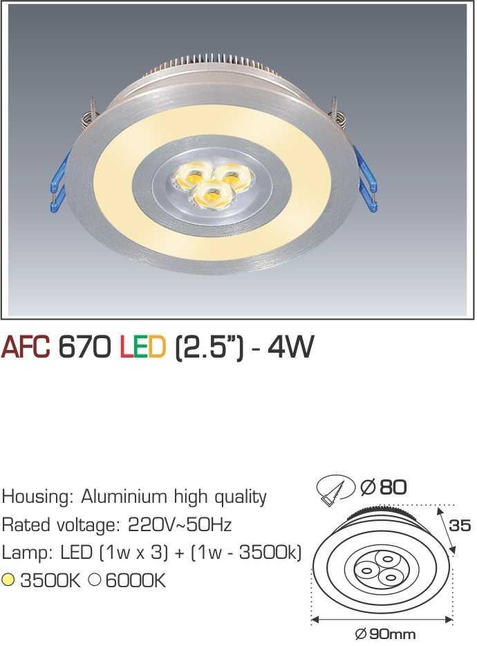 ĐÈN AFC 670 LED 4W