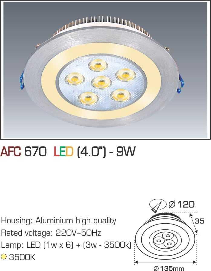 ĐÈN AFC 670 LED 9W