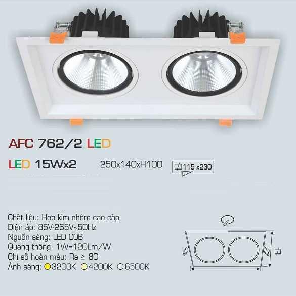 ĐÈN AFC 762/2 LED 15Wx2