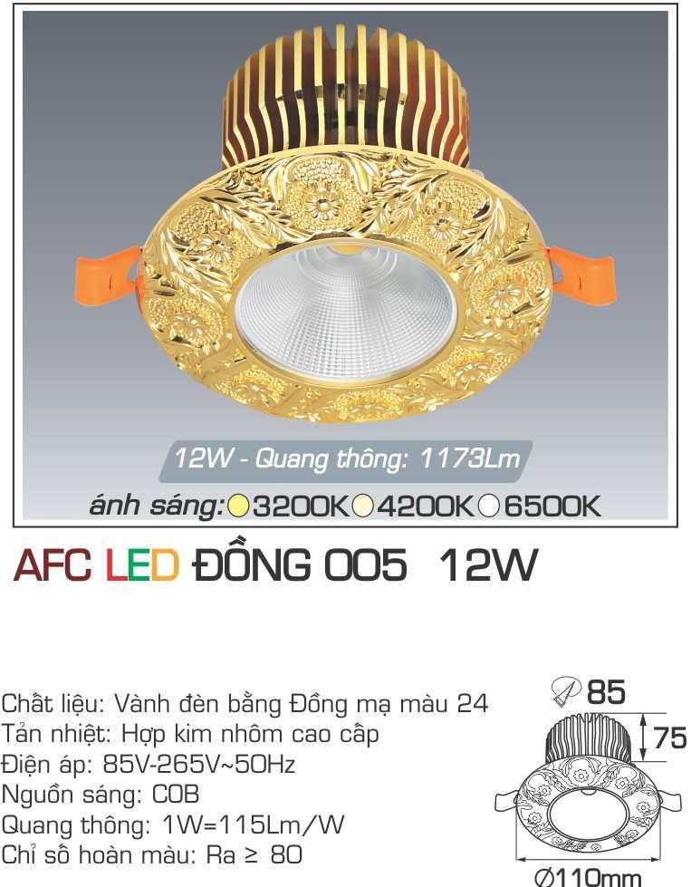 ĐÈN AFC LED ĐỒNG 005 12W