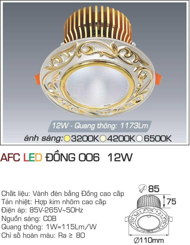 ĐÈN AFC LED ĐỒNG 006 12W