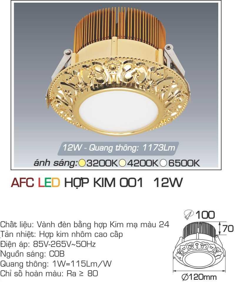 ĐÈN LED HỢP KIM 001 12W