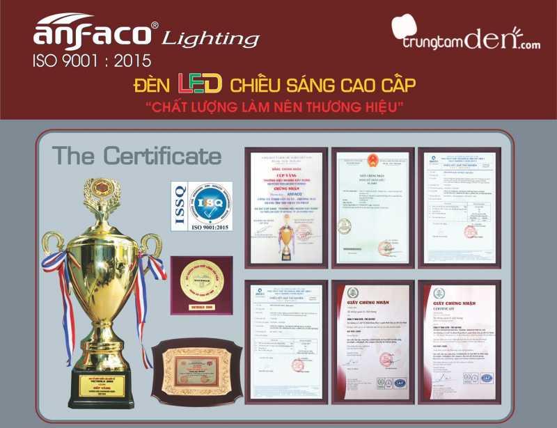 Chứng nhận chất lượng của đèn led Anfaco