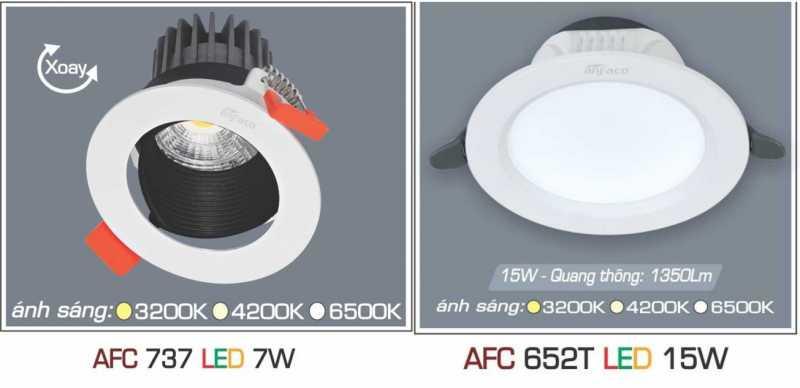 Đèn led âm trần Anfaco 1 chế độ sáng