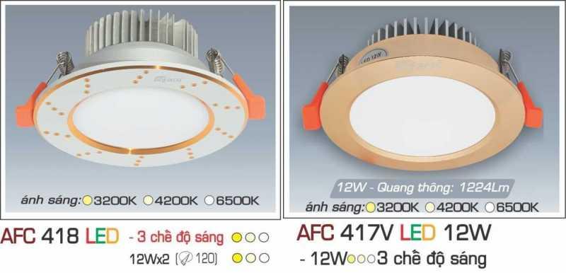 Đèn led âm trần Anfaco 3 chế độ sáng