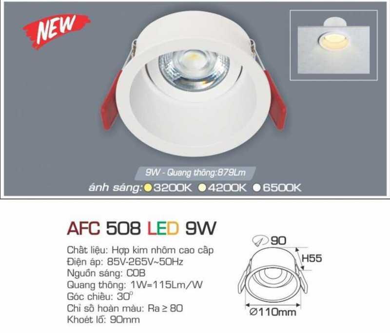 Đèn led âm trần Anfaco 9w – Mã AFC 508 9W