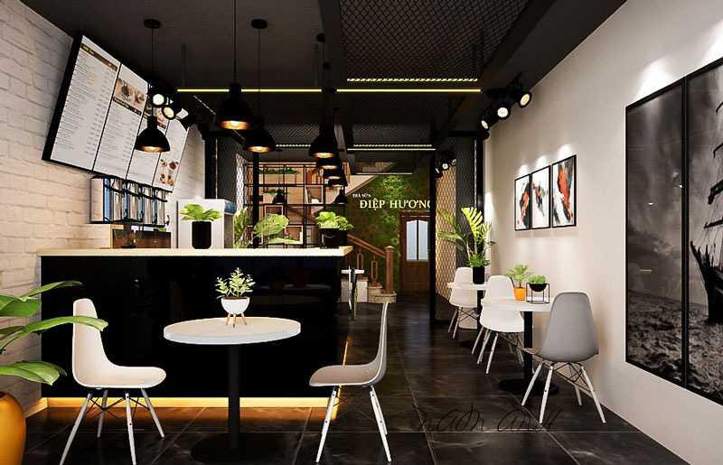 Đèn led trang trí quán cafe