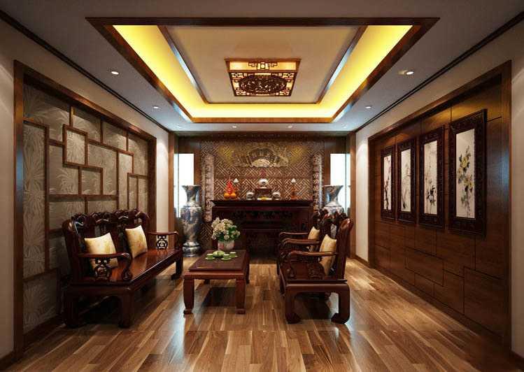 Đèn ốp trần hộp gỗ cở lớn trang trí nhà gỗ