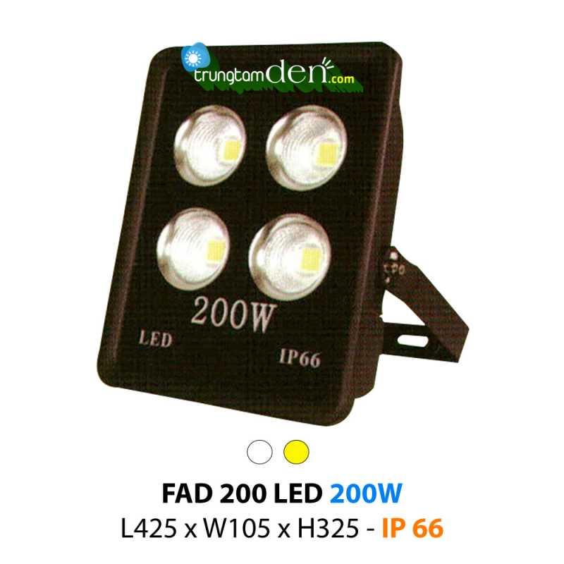 Đèn pha led 200w cao cấp FAD