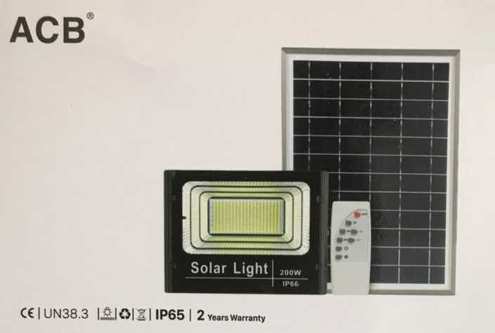 Đèn pha led 200w năng lượng mặt trời ACB (Mã sản phẩm: PNL 200W)