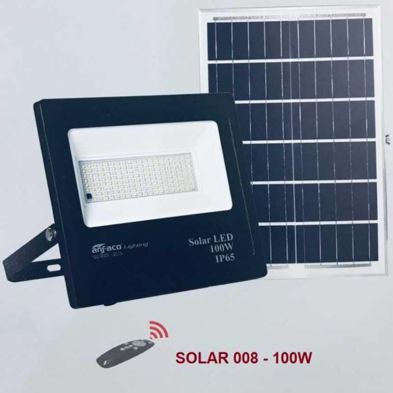 Đèn pha led năng lượng mặt trời ANFACO 100w - SOLAR 008 100w
