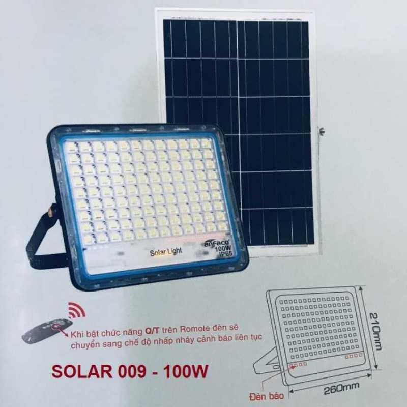 Đèn pha led năng lượng mặt trời ANFACO 100w - SOLAR 009 100w