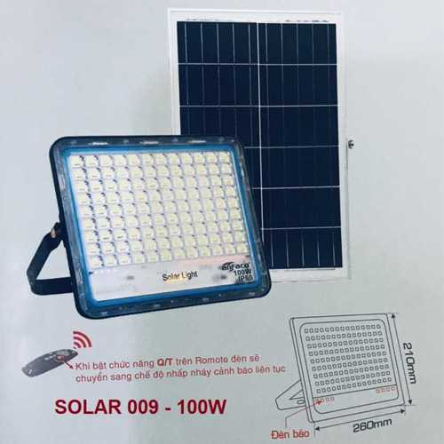 Đèn pha năng lượng mặt trời Anfaco 100w
