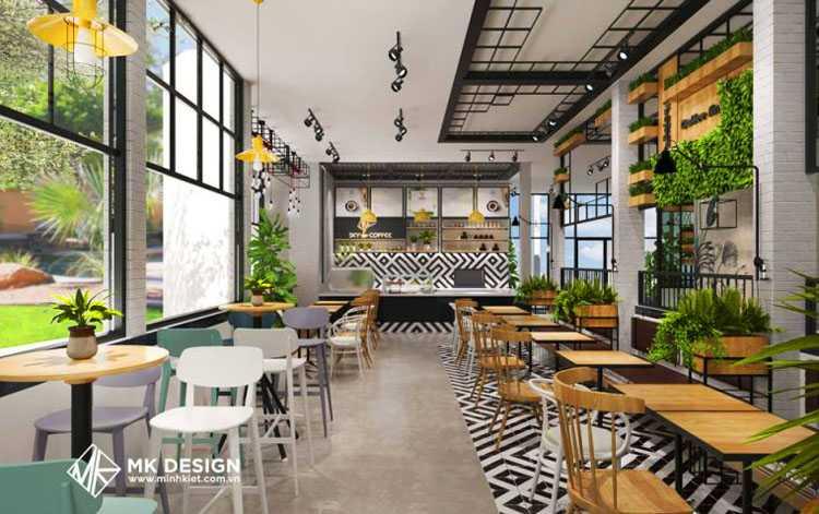 Đèn pha tiêu điểm trang trí quán cafe