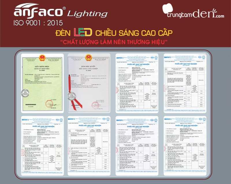 Giấy kiểm nghiệm chất lượng đèn led Anfaco.jpg