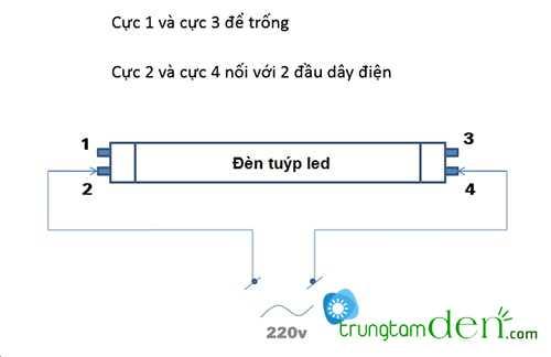 Hướng dẫn cách lắp đặt đèn huỳnh quang dài 1m2. 2