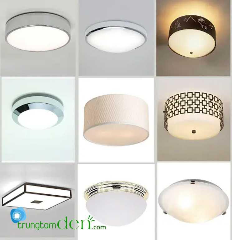 Mẫu số mẫu đèn led ốp trần trên thị trường