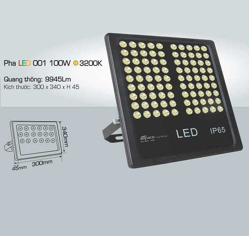 ĐÈN PHA LED 001 100W