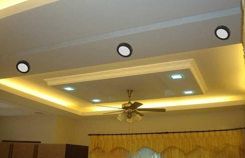 Phối cảnh sử dụng đèn led ốp trần cho không gian