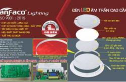 Đèn led âm trần Anfaco 12w có mấy loại? Giá bán đèn led âm trần Anfaco 12w có chiết khấu?