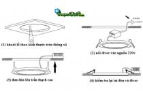 Hướng dẫn cơ bản cách lắp đặt đèn led âm trần