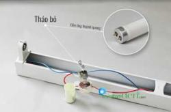 Hướng dẫn lắp bóng đèn tuýp led 1m2 vào máng đèn huỳnh quang cũ