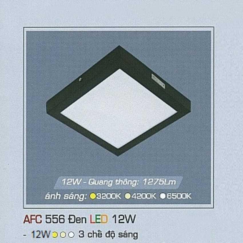 Mâm áp trần 3 chế độ AFC 556 ĐEN 12W 3C