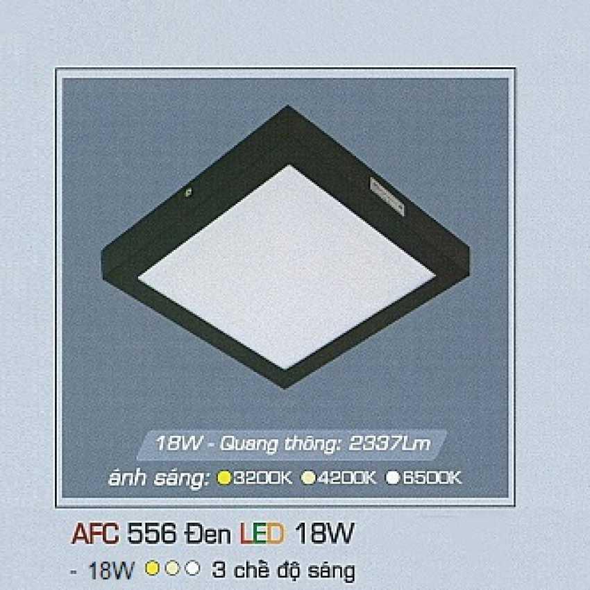 Mâm áp trần 3 chế độ AFC 556 ĐEN 18W 3C