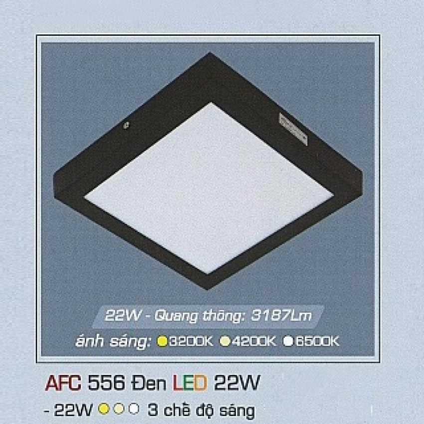 Mâm áp trần 3 chế độ AFC 556 ĐEN 22W 3C