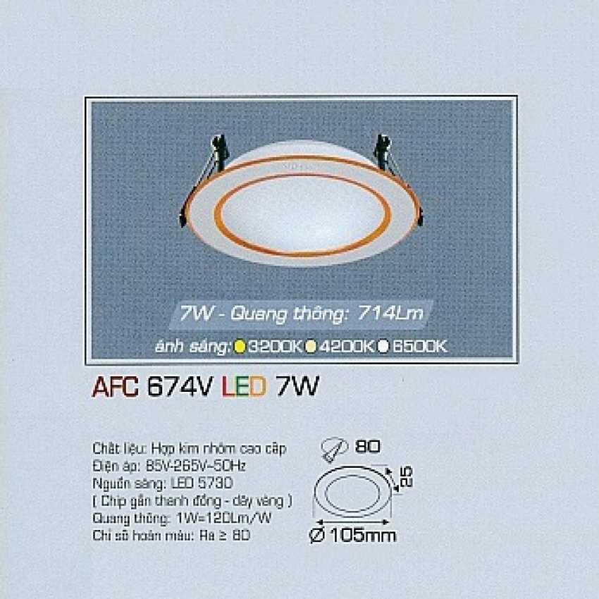 Đèn downlight led AFC 674V 7W 1C