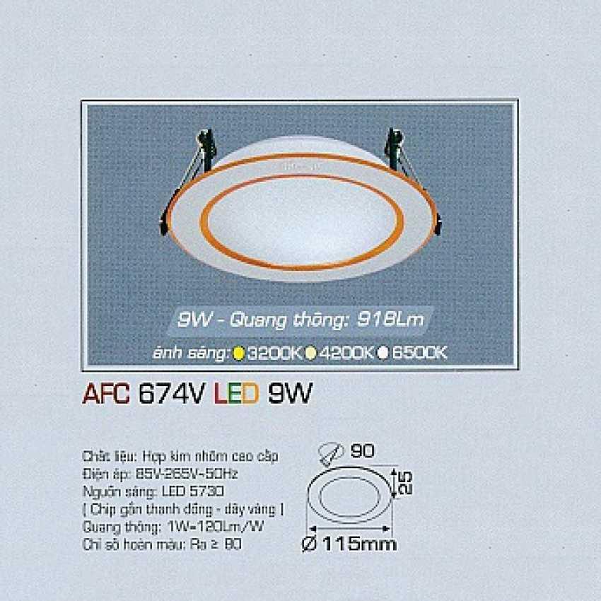 Đèn downlight led AFC 674V 9W 1C