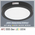 Đèn led nổi cao cấp 1 chế độ AFC 555 ĐEN 22W 1C
