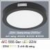 Đèn led nổi cao cấp 3 chế độ AFC 555 ĐEN 22W 3C