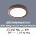 Đèn led nổi cao cấp 3 chế độ AFC 555 NÂU 6W 3C