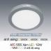 Đèn led nổi cao cấp 3 chế độ AFC 555 XÁM 12W 3C