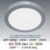 Đèn led nổi cao cấp 3 chế độ AFC 555 XÁM 22W 3C