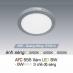Đèn led nổi cao cấp 3 chế độ AFC 555 XÁM 6W 3C