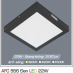 Đèn led nổi cao cấp 1 chế độ AFC 556 ĐEN 22W 1C