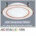 Đèn downlight led 1 chế độ AFC 674V 12W 1C