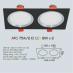 Đèn downlight led 1 chế độ AFC 754/2 Đ 9Wx2 1C