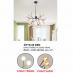 Đèn thả nghệ thuật LED DTTK 55 ĐEN
