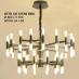 Đèn chùm thả pha lê DTTK CD 127/60 ĐEN