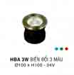 Đèn âm hồ nước HBA 3W DM