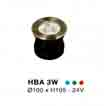 Đèn âm hồ nước HBA 3W