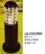 Đèn trụ sân vườn thấp LG 2703 ĐEN
