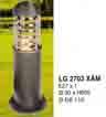 Đèn trụ sân vườn thấp LG 2703 XÁM
