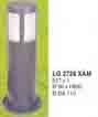 Đèn trụ sân vườn thấp LG 2728 XÁM